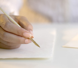Writing a Letter --- Image by © Royalty-Free/Corbis